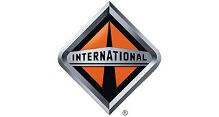 Het International logo, wij leveren onderdelen International onderdelen voor uw schoolbus